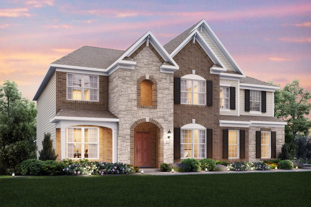 New homes in liberty township the nicholas plan m i homes for Michigan design center home tour