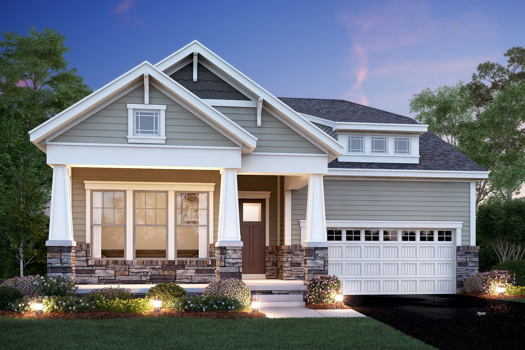 Sanctuary At The Lakes Luxury Patio Homes   Homes For Sale In Westerville,  OH   M/I Homes