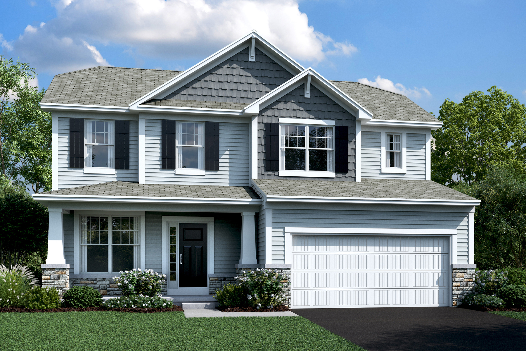 New homes in plain city the dearborn plan m i homes for House plans for golf course lots