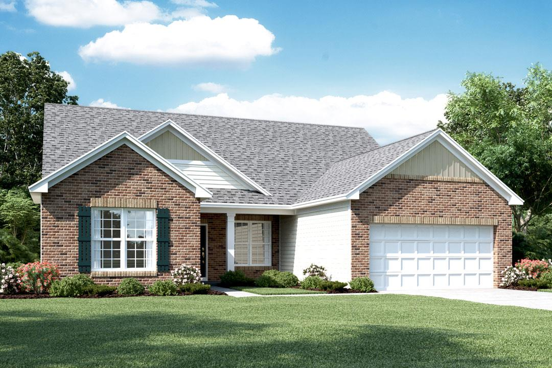 New homes in noblesville the clayton ii basement plan for House plans for golf course lots