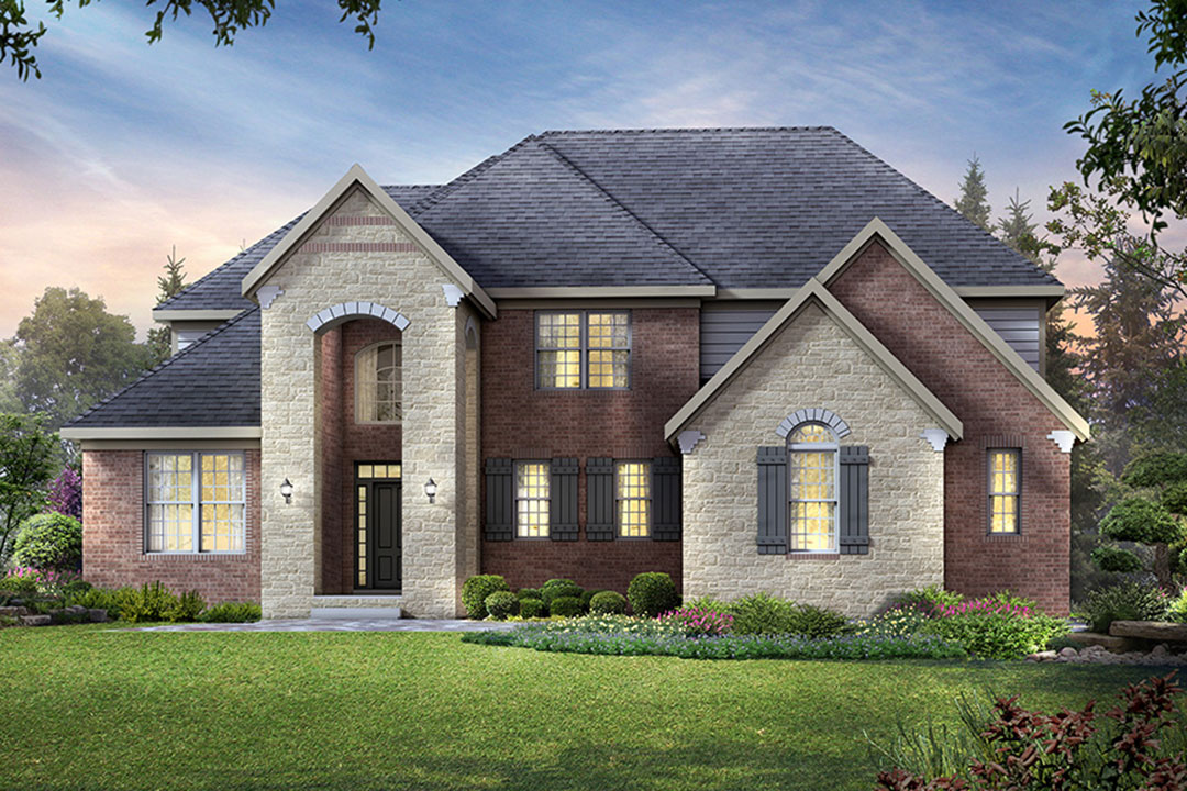 New homes in novi the chelsea plan m i homes for House plans for golf course lots